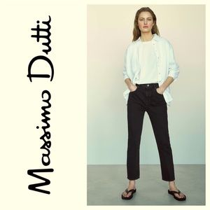 Massimo Dutti High Rise Exposed Button Fly Jeans